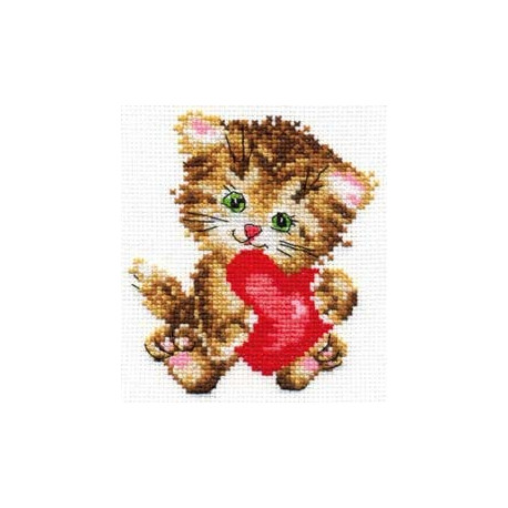 Набор для вышивки крестом Алиса 0-61 Любимая киска фото
