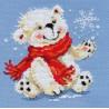 Набор для вышивки крестом Алиса 0-53 Белый медвежонок фото