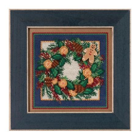 Набор для вышивания Mill Hill MH145304 Spiced Wreath фото