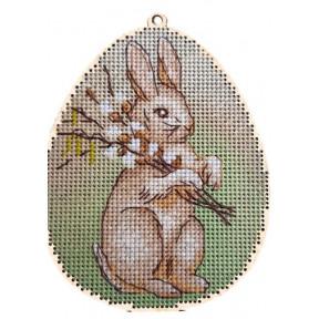 Набор для вышивки крестом Alisena 5503а-Б Пасхальная – кролик – с подвеской