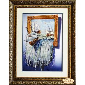 """Набор для вышивания бисером Tela Artis НТК-022 """"Море в картине"""""""