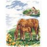 Набор для вышивки крестом Алиса 1-03 Лошадки фото