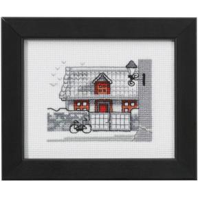 Набор для вышивания Permin 14-0138 House/red door