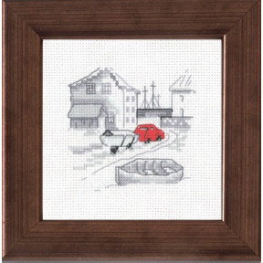 Набор для вышивания Permin 14-7115 Fishing town/car