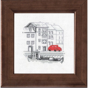 Набор для вышивания Permin 14-7112 Harbour/car