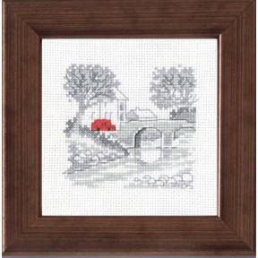 Набор для вышивания Permin 14-7110 Bridge/car
