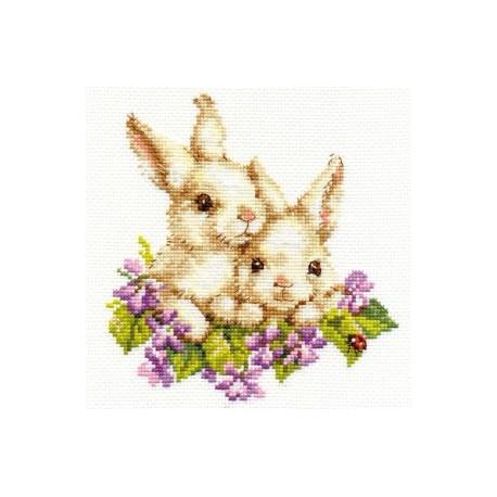 Набор для вышивки крестом Алиса 1-11 Крольчата фото