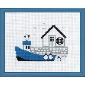 Набор для вышивания Permin 13-7125 Blue boat