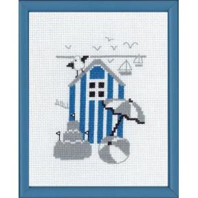 Набор для вышивания Permin 13-7124 Blue house
