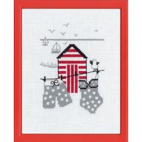 Набор для вышивания Permin 13-7123 Red house