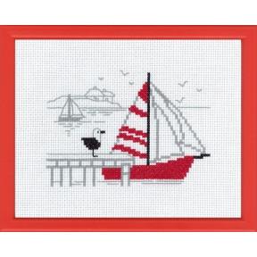 Набор для вышивания Permin 13-7121 Red boat
