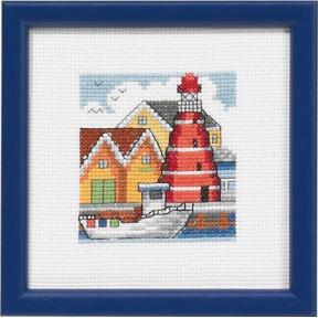 Набор для вышивания Permin 14-5195 Red lighthouse habour