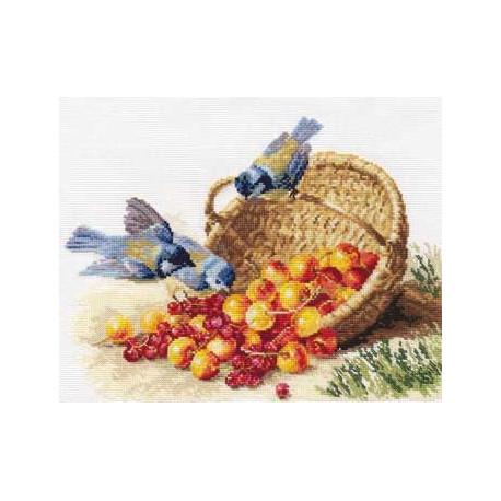 Набор для вышивки крестом Алиса 1-14 Синичка и черешня фото