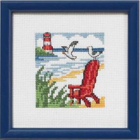 Набор для вышивания Permin 14-5190 Red Beachchair
