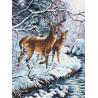 Набор для вышивки крестом Dimensions 35182 Creekside Deer фото