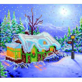 Схема для вышивания бисером Абрис Арт АС-016 Рождество