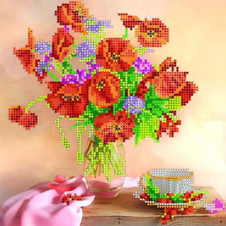 Схема для вышивания бисером Абрис Арт АС-022 Утренний чай фото