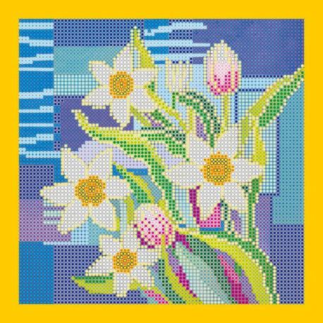 Схема для вышивания бисером Абрис Арт АС-043 Нарциссы фото