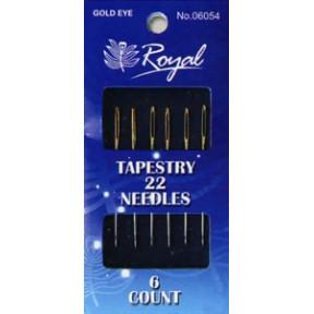 Иглы для вышивания с золотым ушком Royal №22 (6 шт) 06054