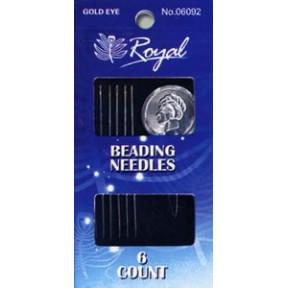 Иглы для бисера + нитковдеватель Royal №16 (6 шт) 06092