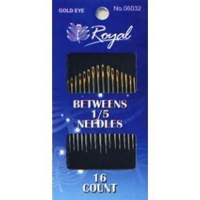 Набор полудлинных игл для шитья Royal 1/5 (16 шт) 06032 фото