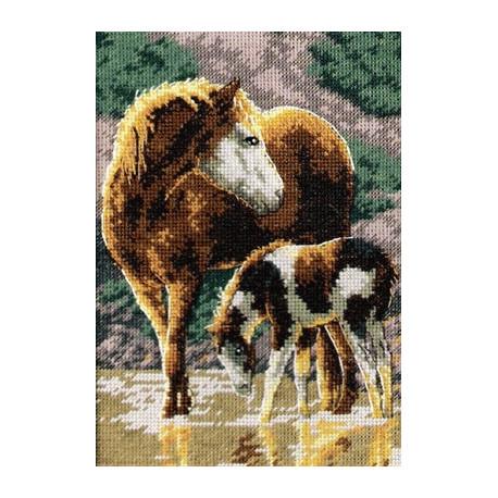 Набор для вышивки крестом Dimensions 65073 Sunlit Horses фото