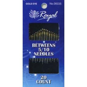 Набор полудлинных игл для шитья Royal 5/10 (20 шт) 06035