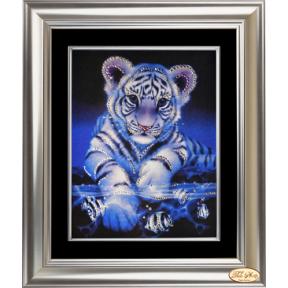 """Набор для рисования стразами  Tela Artis КС-004т """"Озорной тигренок"""""""