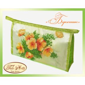 Набор для вышивания бисером косметичка Tela Artis К-003т Букетик