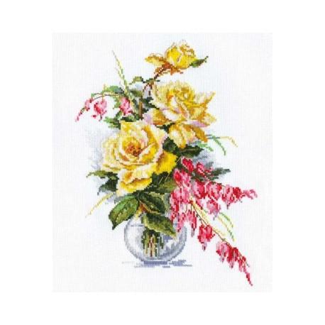 Набор для вышивки крестом Алиса 2-20 Желтые розы фото