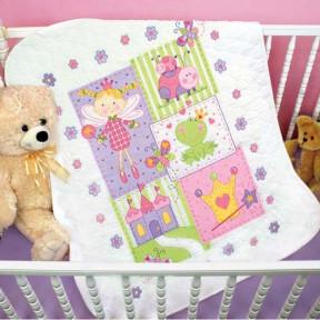 Набор для вышивания одеяла Dimensions 70-73541 Fairy Quilt