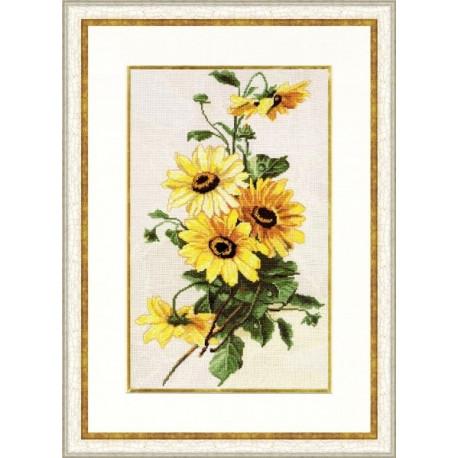 Набор для вышивки Золотое Руно БР-014 Солнечные цветы фото