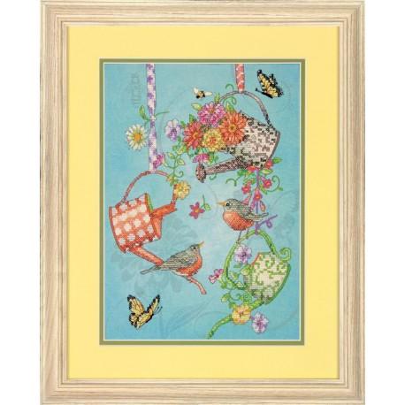 Набор для вышивания Dimensions 70-03246 Blooming Watering Cans