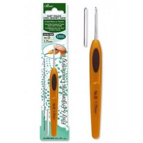 Крючок для вязания №0 1,75мм  1020 Clover (Япония)