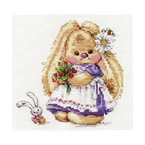 Набор для вышивки крестом Алиса 0-179 Зайка Ми. Земляника