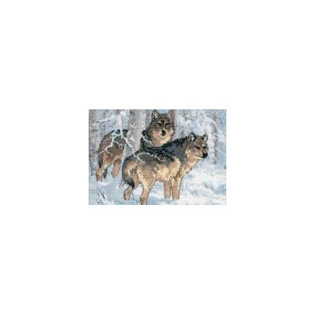 Набор для вышивки крестом Dimensions 65004 Winter Wolves фото