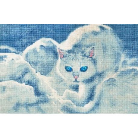 Набор для вышивки Золотое Руно ГТ-042 Белый кот фото