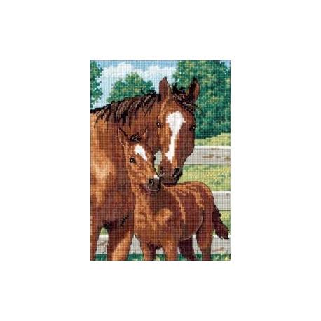 Набор для вышивки Dimensions 06960 Mother's Pride Horses фото