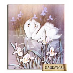 "Картина из бумаги Папертоль РТ150040 ""Лебеди"""