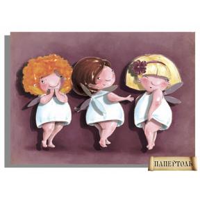 """Картина из бумаги Папертоль РТ150042 """"Три подружки"""""""