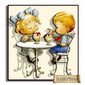 """Картина из бумаги Папертоль РТ150049 """"Кафе-мороженое"""""""