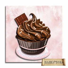 """Картина из бумаги Папертоль РТ150055 """"Шоколадный кексик"""""""