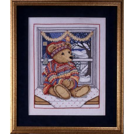 Набор для вышивания Design Works 5447 Bear at Window фото