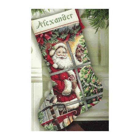 Набор для вышивки Dimensions 08778 Candy Cane Santa Stocking
