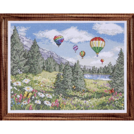 Набор для вышивания Design Works 2700 Ballon Sky фото