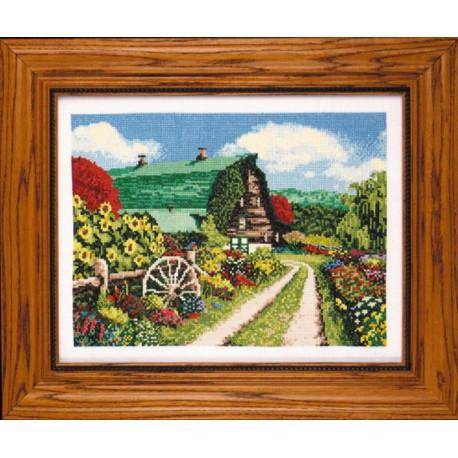 Набор для вышивания Design Works 2329 Barn Floral фото
