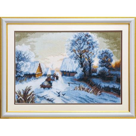 Набор для вышивки крестом Чарівна Мить А-164 Зимний закат фото