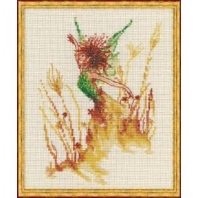 """Набор для вышивания крестом NIMUЁ 31-R001 К (Aida) """"Petite Fee des Bles/Маленькая фея цветов"""""""