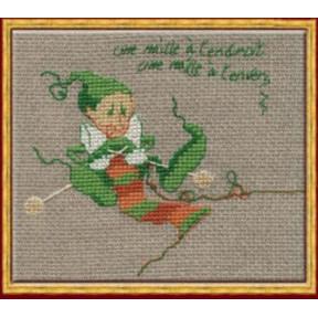 """Набор для вышивания крестом NIMUЁ 59-A0030 К (Aida) """"Mac 7 Tricote/Мак 7 Вязание"""""""