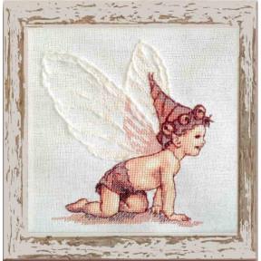 Набор для вышивания крестом NIMUЁ 153 КA (Aida) BB Blanc/Белый ангел
